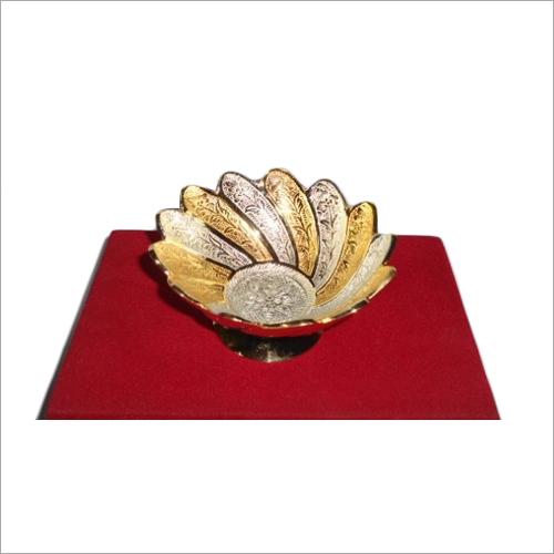 Gold Plated Brass Handicraft Beautiful Bowl Gift