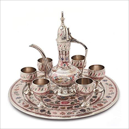 Silver Plated Traditional Jug and Glass Set