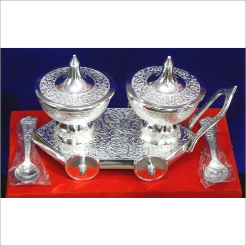 Silver Plated Brass Handicraft Beautiful Bowl Gift Set