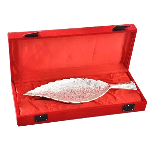 Silver Plated Leaf Bowl Gift