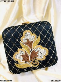 Handcrafted evening party wear box clutches