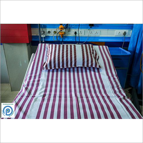 Cotton Striped Hospital Bed Sheet