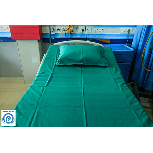 Green Hospital Bed Sheet