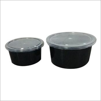 Black Disposable Plastic Container