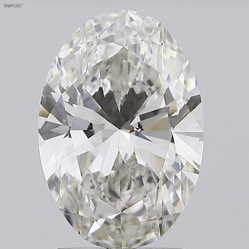 CVD 2.01ct H VS2 OVAL Cut Diamond IGI Certified Stone TYPE2A