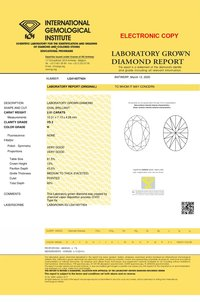CVD 2.01ct H VS2 OVAL Cut Diamond IGI Certified Stone TYPE2A