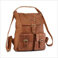 Ladies Vistosso Leather Backpack Bag