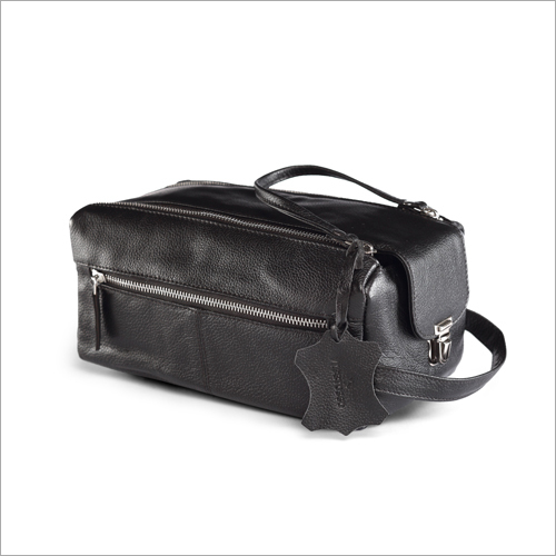 Premium Leather Toiletry Bag