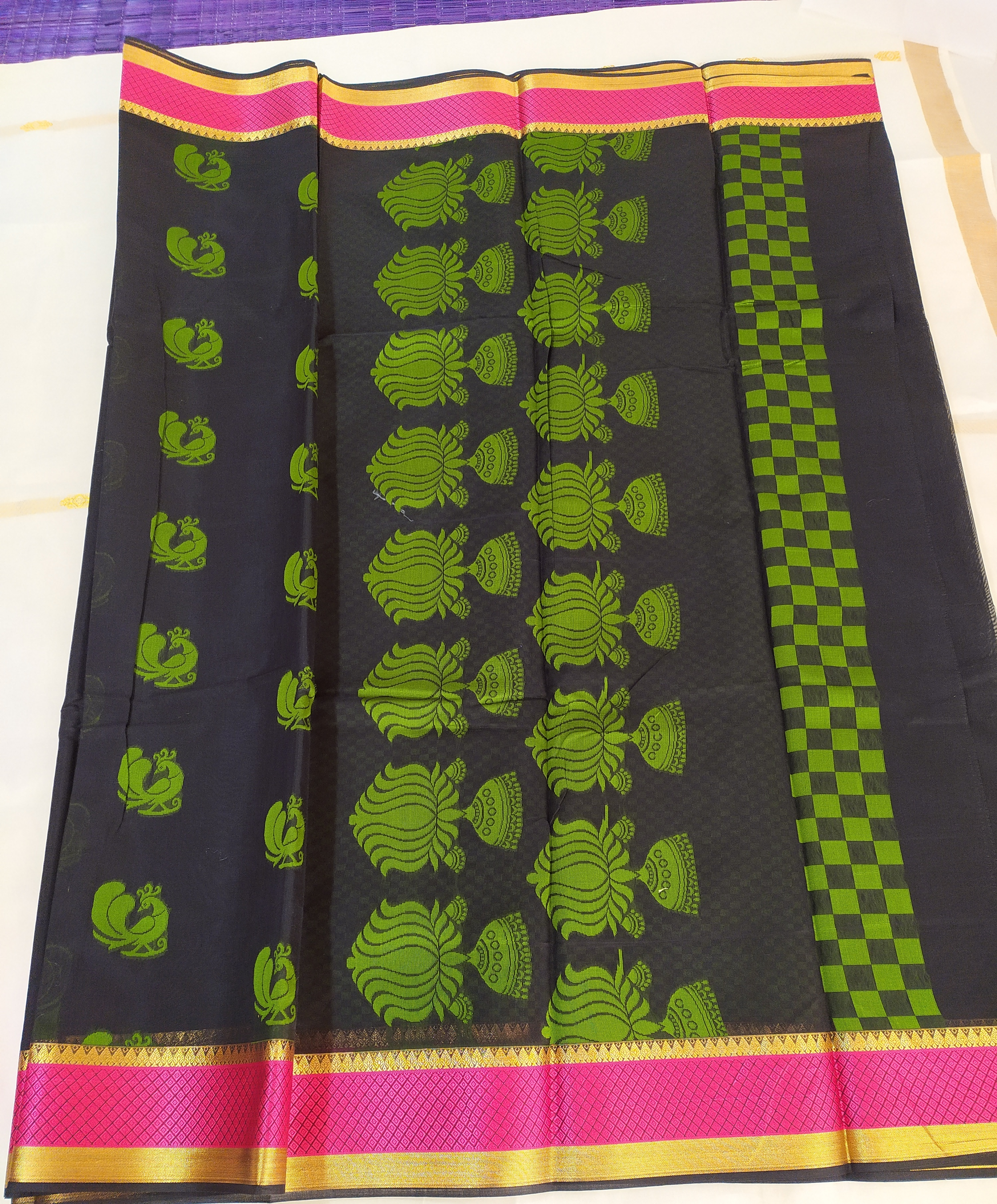 Designer Kora Cotton Saree