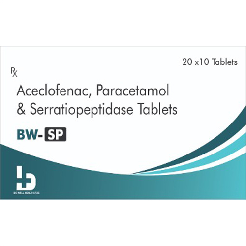 Aceclofenac - Paracetamol And Serratiopeptidase Tablets