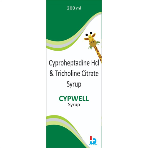 200ml Cyproheptadine HCL And Tricholine Citrate Syrup