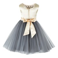 Embroidered Grey Knee Length Party  Frock