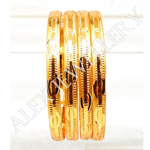 Artificial Jewellery Gold Plated Shagun Bangle