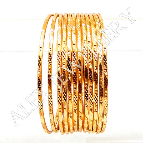 Stylish New Simple Design Gold plated Shagun Bangle