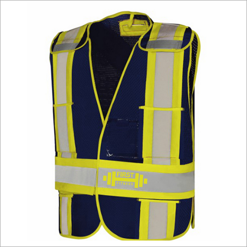 High Visibility Safety Red Mesh Vest