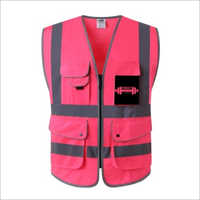 High Visibility Front Zipper Safety Vest With Reflective Strips