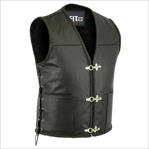 Mens Leather Vest Coat