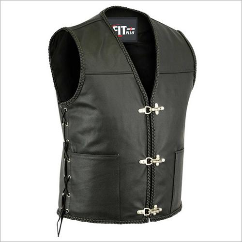 Mens Leather Vest Coat