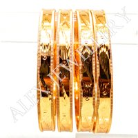 Imitation Jewellery Gold Plated Shagun Bangle