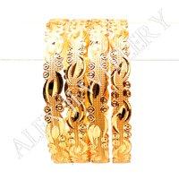 Stylish New Design Gold Plated Shagun Bangle
