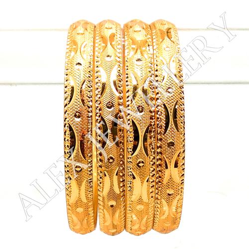 Gold plated shagun bangle