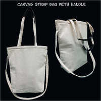 Canvas Strap Bag with Handle