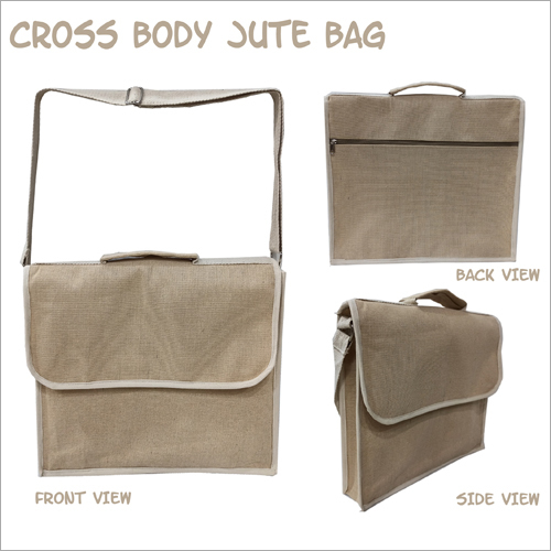 Fancy Cross Body Jute Bag