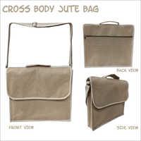 Fancy Cross Body Jute Bag