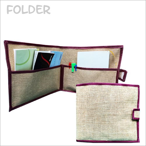 Jute Zip Closer File Folder