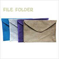 Jute Plain File Folder