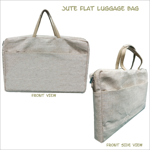 Jute Flat Luggage Bag