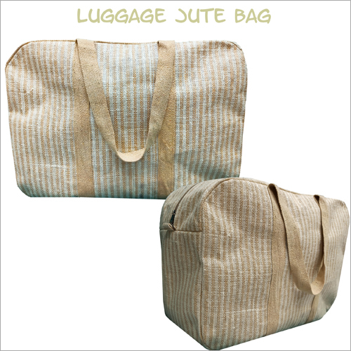Jute Plain Luggage Bag