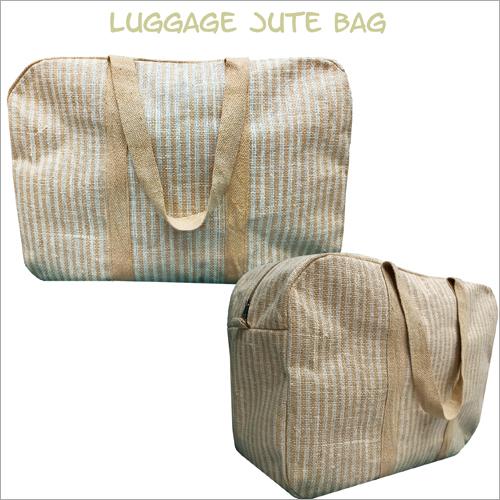 Jute Plain Luggage Bag
