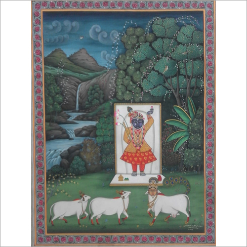 Home Decor Cloth Painting of lord Shrinath ji painting
