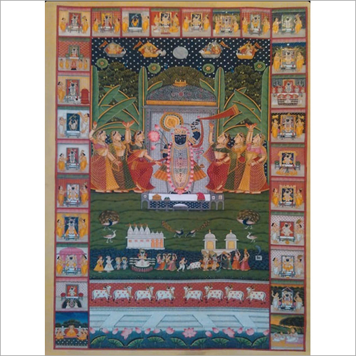 Shard purnima pichwai Painting