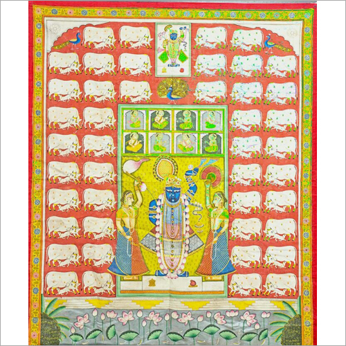 Home Decor Pichwai Cloth Painting