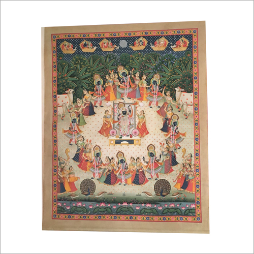 Radha Krishna Cloth Painting