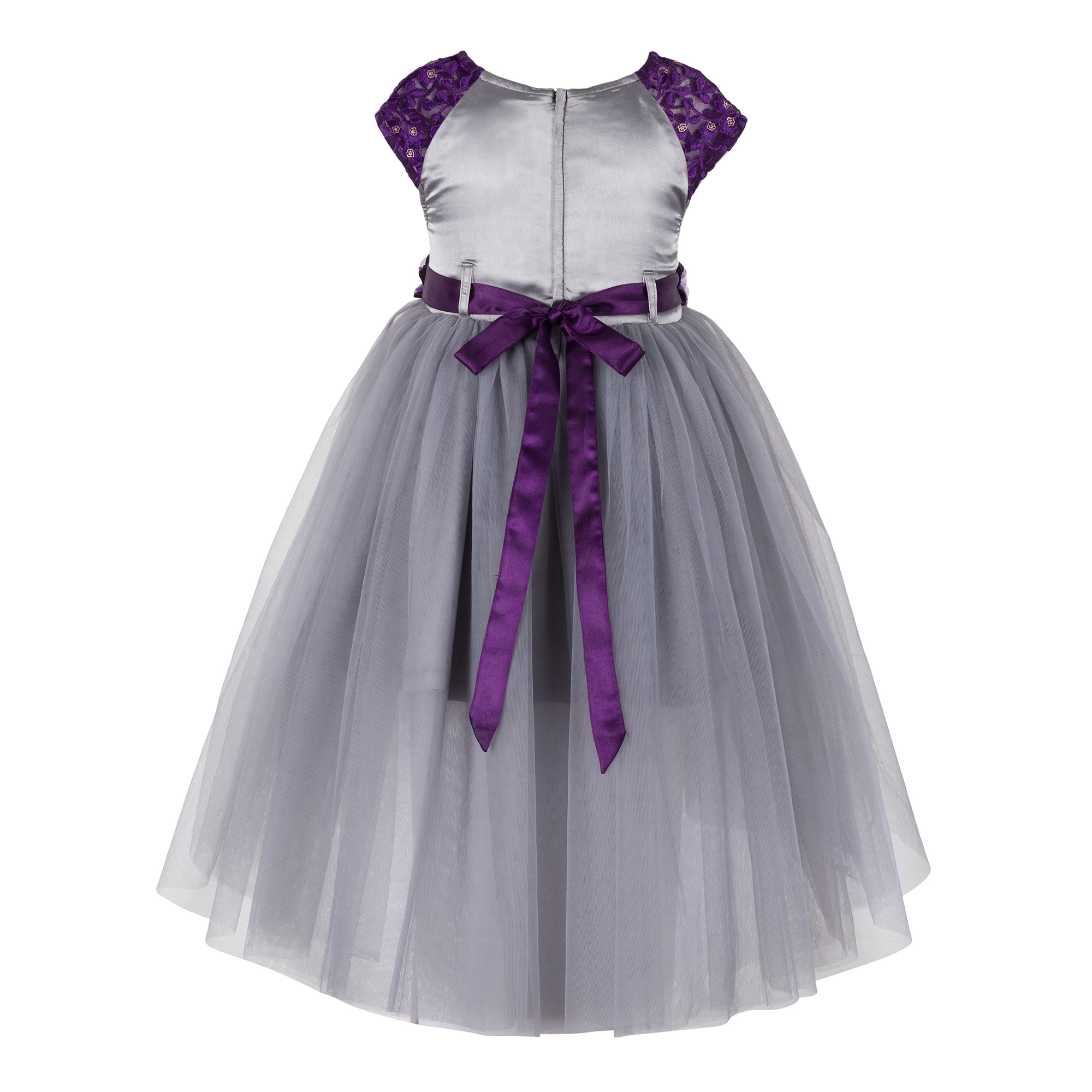 Kids  Grey High Low Dress