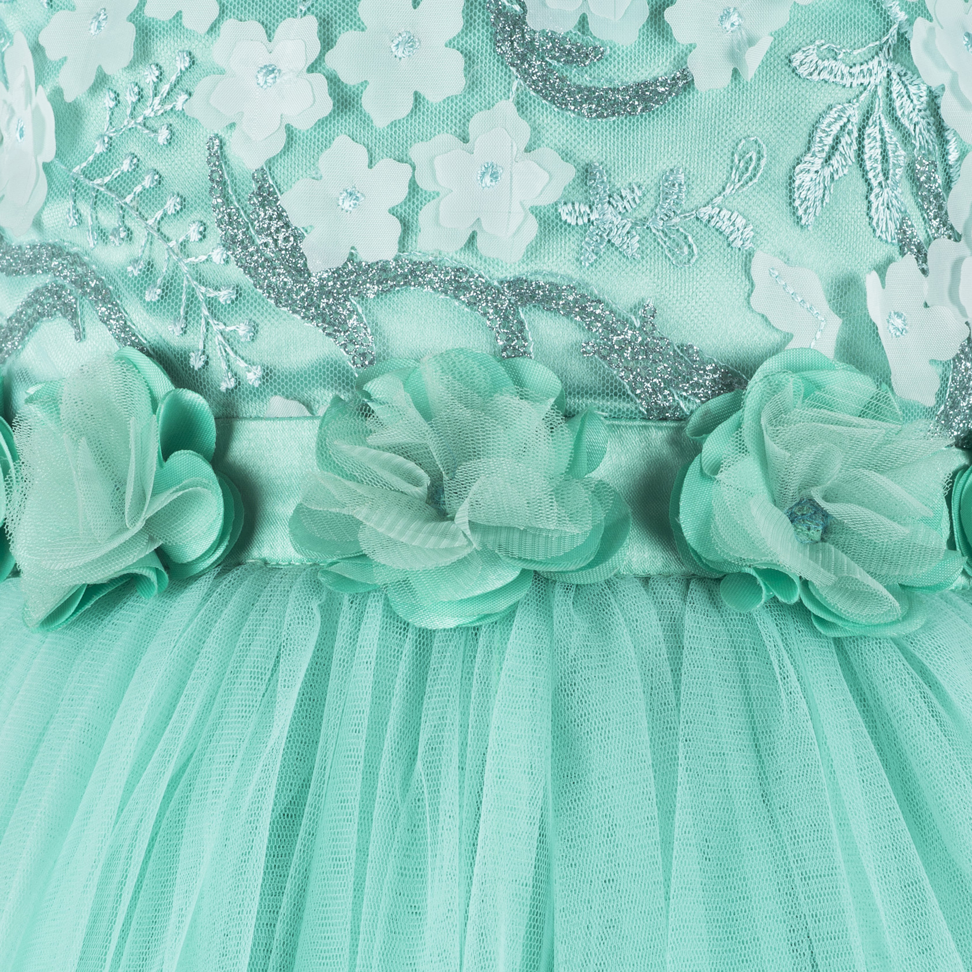 Flower Bead  Party  Frock