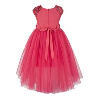 Coral High Low  Dress.
