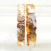 Latest new Design gold plated shagun Bangle