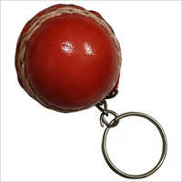 Leather Ball Key Ring