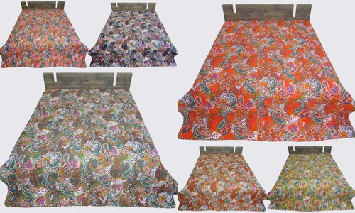 Kantha Bedcover Paisly Design