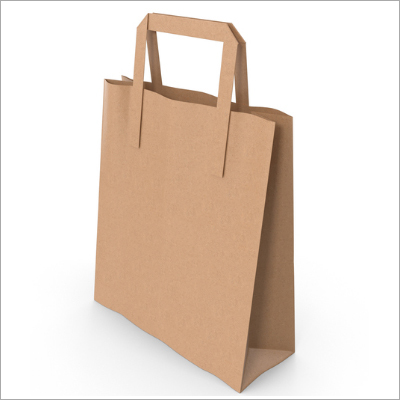 Natural Kraft Paper Bag with flat handles