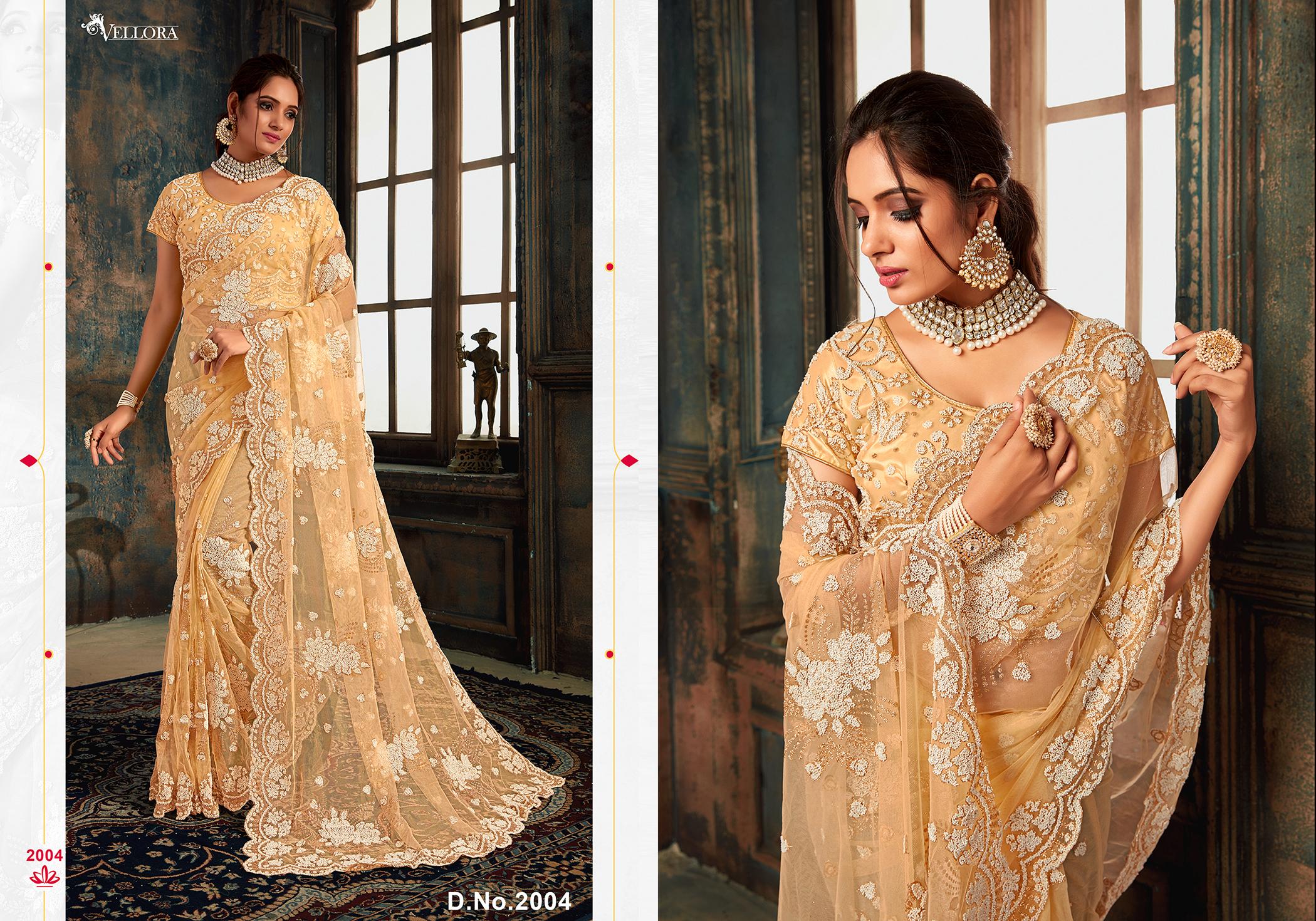 Designer Net Embroidered Saree