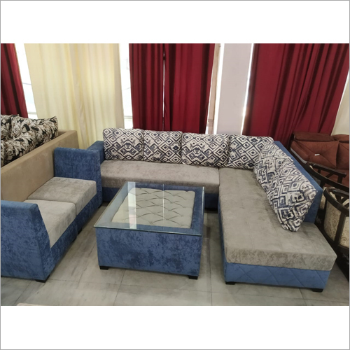 L Shaped Sofa With High Back Puffing
