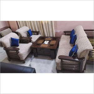 Wooden Sofa with Table