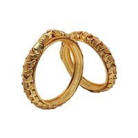 Latest Design Gold Plated shagun Pola Bangle