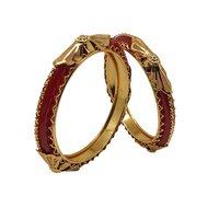 Imitation Jewellery Gold Plated Shagun Pola Bangle