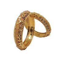 Latest Design Gold Plated Shagun Pola Bangle